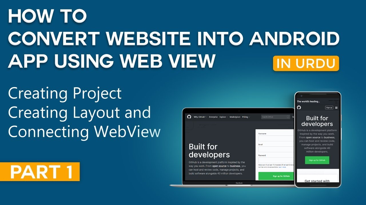 How to Convert Website into Android App Part 1 | Creating Project and Setup WebView