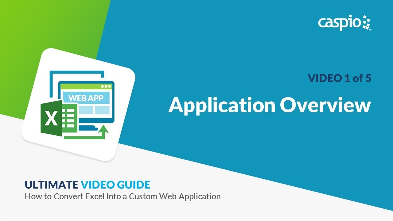 How to Convert Excel into a Custom Web Application / Part 1 of 5