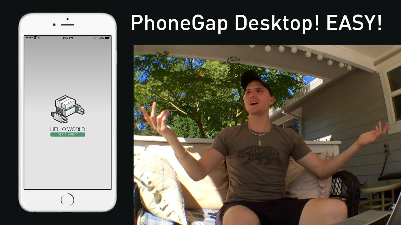 Create HTML Web App for iPhone/Android – PhoneGap Desktop