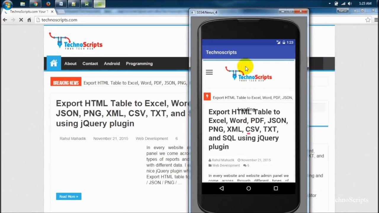 Convert any website into Android application with Android Studio (TechnoScripts)