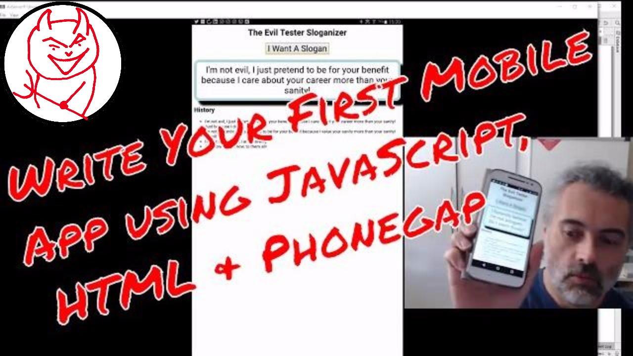 How to create a mobile app using HTML and JavaScript with Phonegap – My First Mobile App