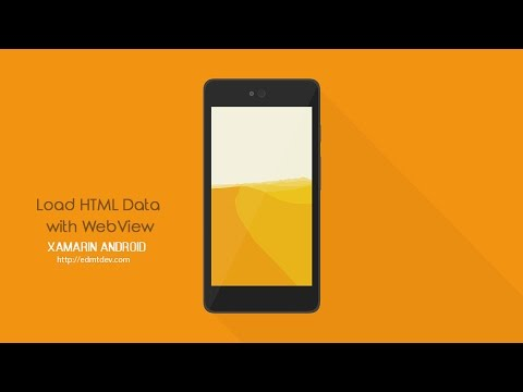 Xamarin Android Tutorial – Load HTML Data with WebView