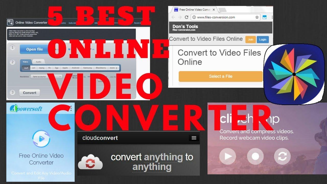 5 Best Online Video Converter 2017 (Free)