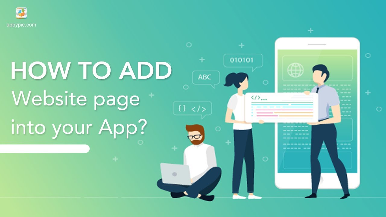 How to add Website page into your app?