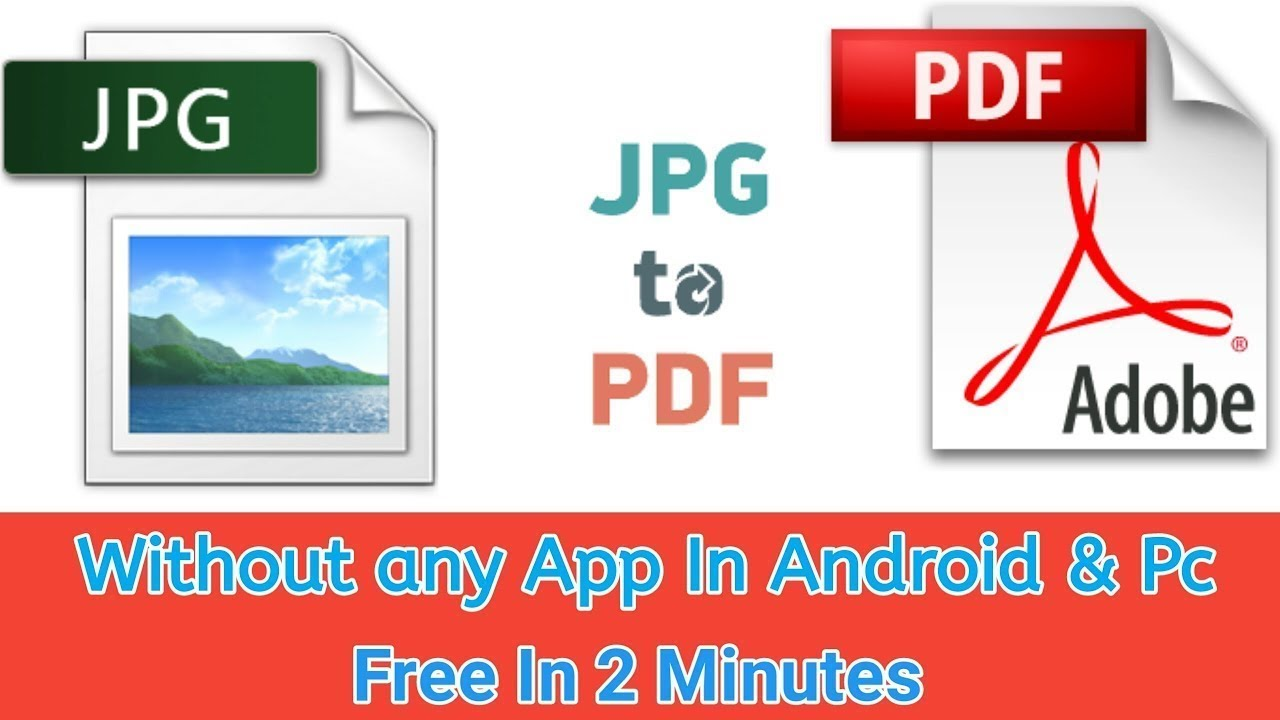 JPG to PDF  Without any App And Software android &PC  Converter free