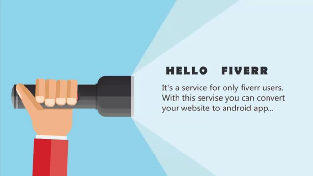 How to convert website to android app Fiverr.