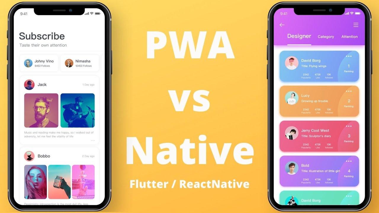 What Are Progressive Web Apps? PWA vs Flutter / React Native