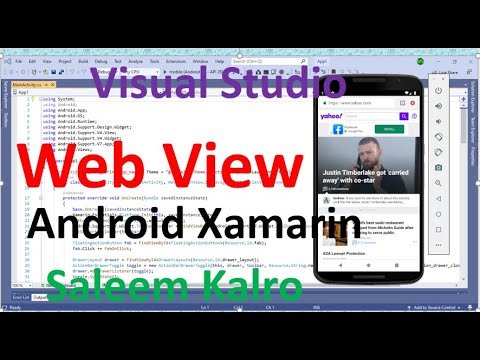 Create a Website in android xamarin WebView