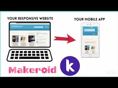 How to convert website / blog into app in makeroid, kodular