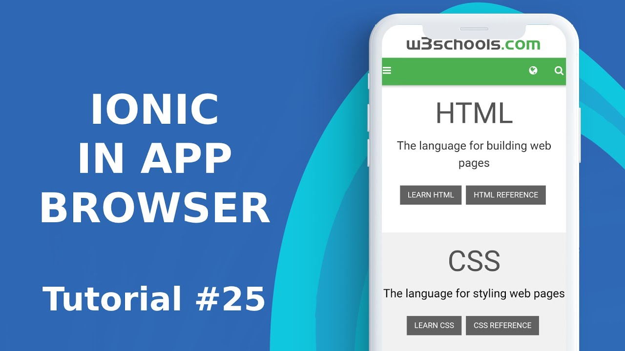 Ionic in app browser