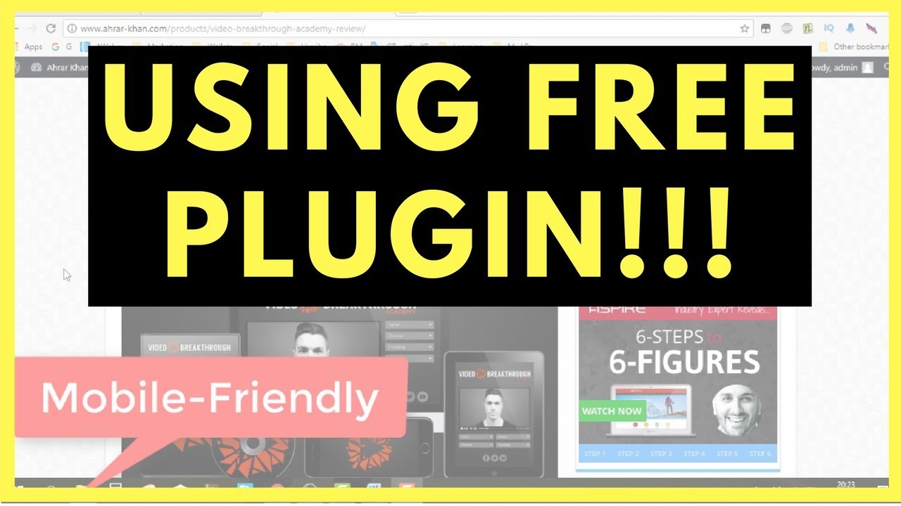 """How To Convert WordPress Site Into """"Mobile Friendly"""" For Free – MUST WATCH!!!"""