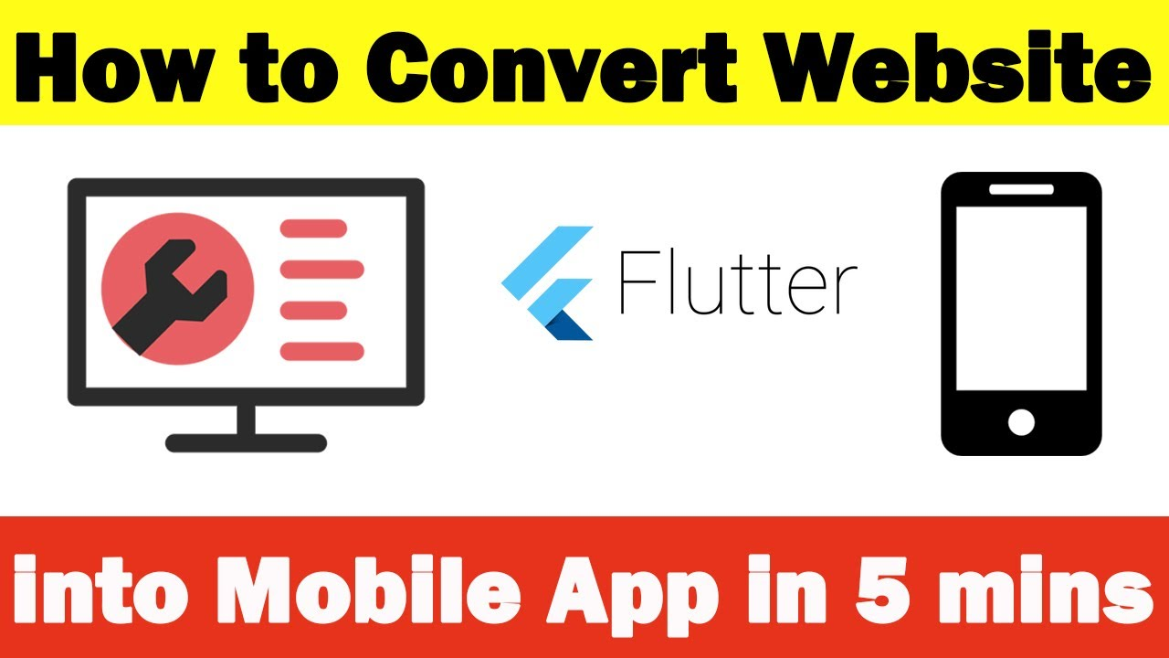 How to convert website into mobile app in 5 mins
