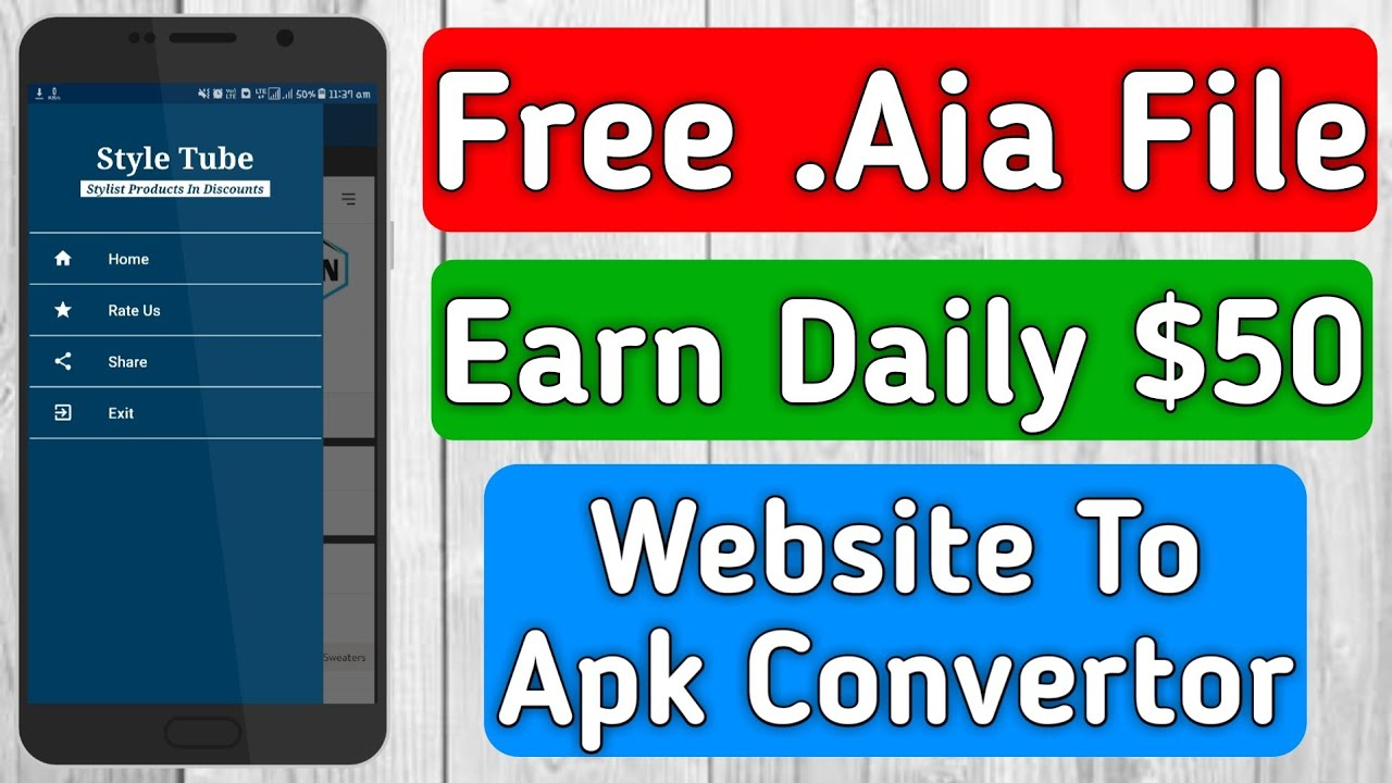Free .Aia file    Earn up to $50 Per Day    Website to apk Converter    Tech Developer
