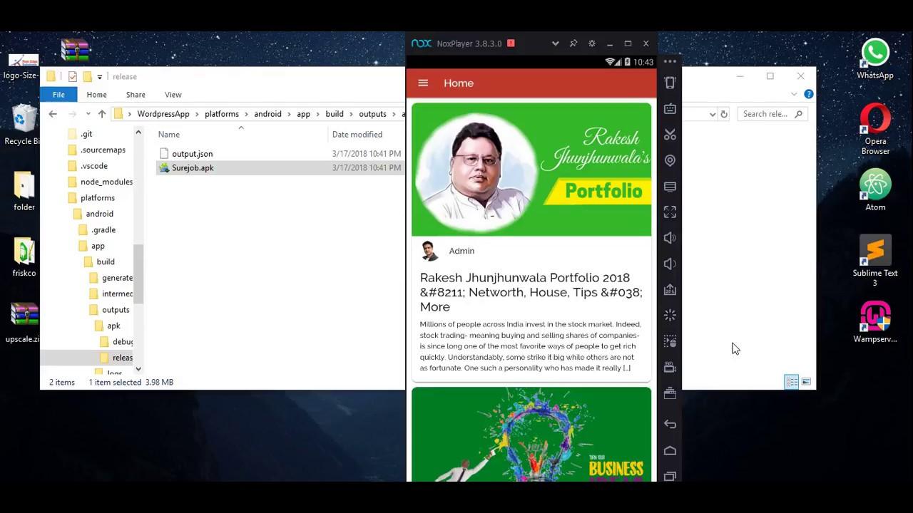WordPress website to app using ionic in 5 min part 1