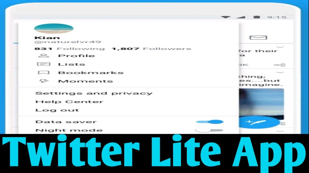How To Converter Twitter Lite Android Mobile App