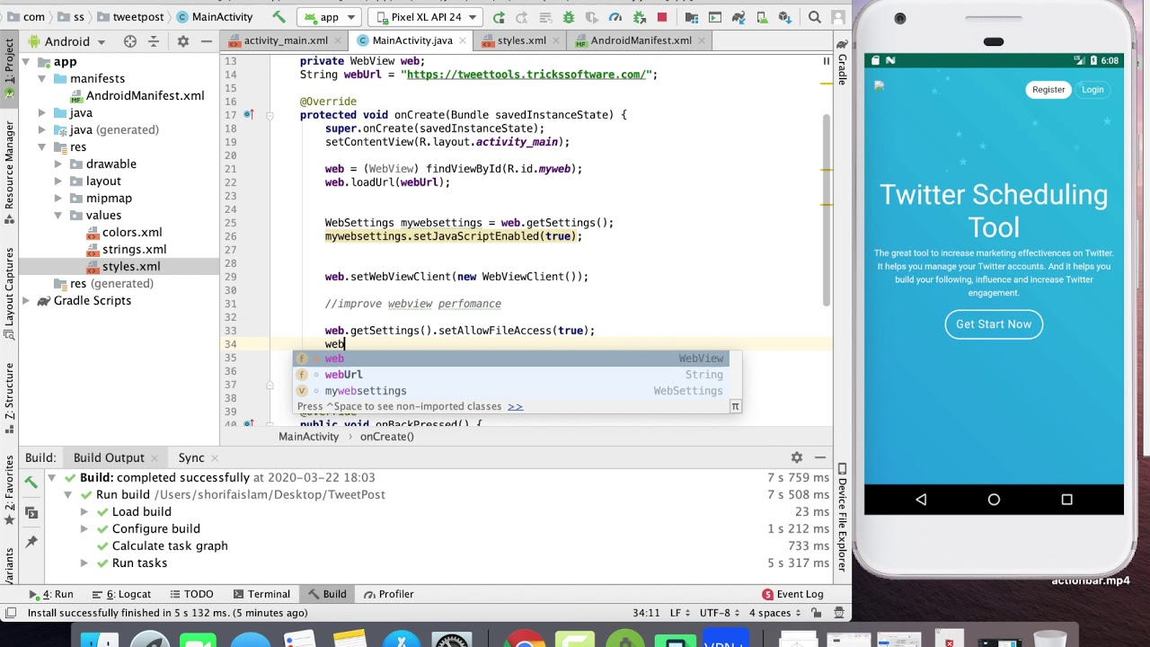Open Url Within App WebView || Convert Website Into Android App  Part 3 || Android Studio || 2020