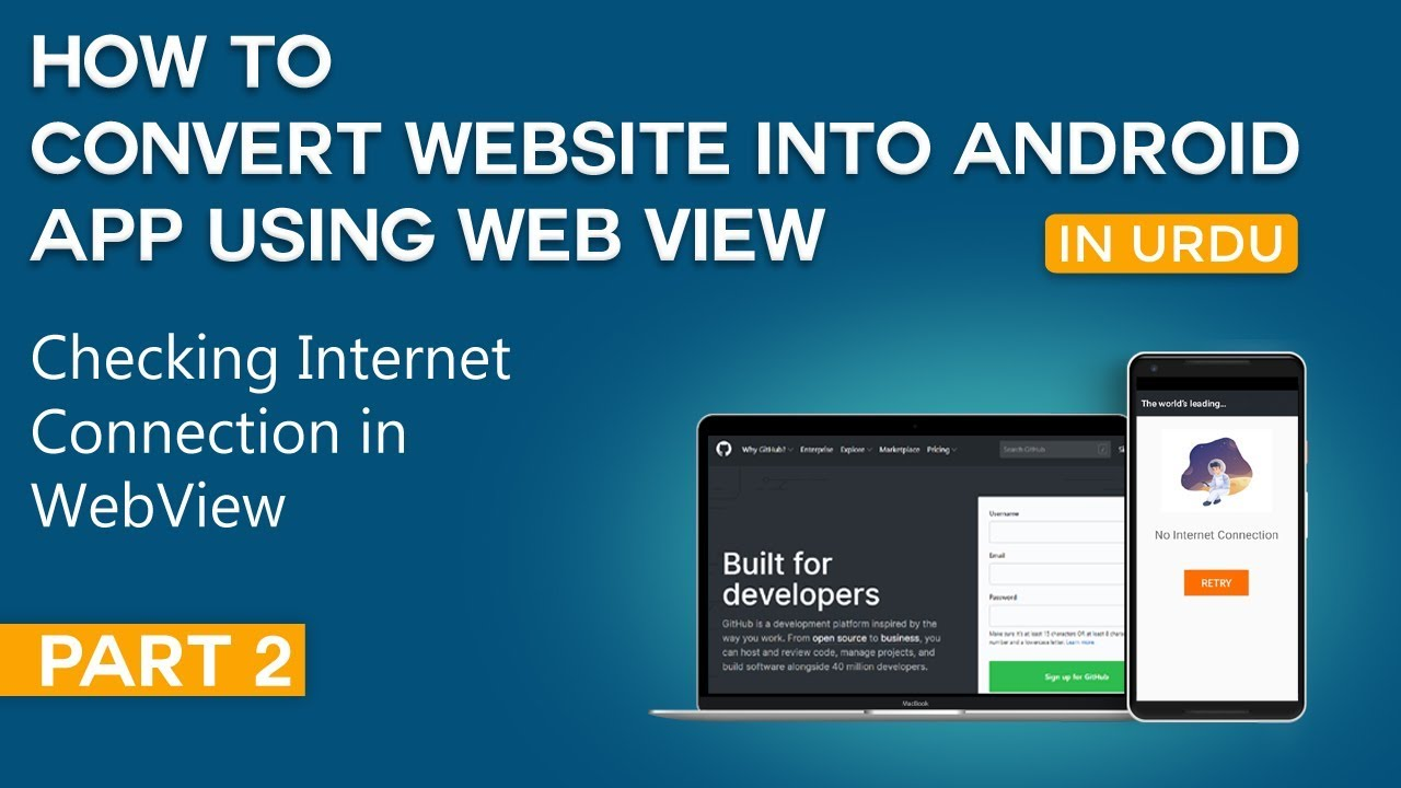 How to Convert Website into Android App Part 3 | Checking Internet Connection in WebView