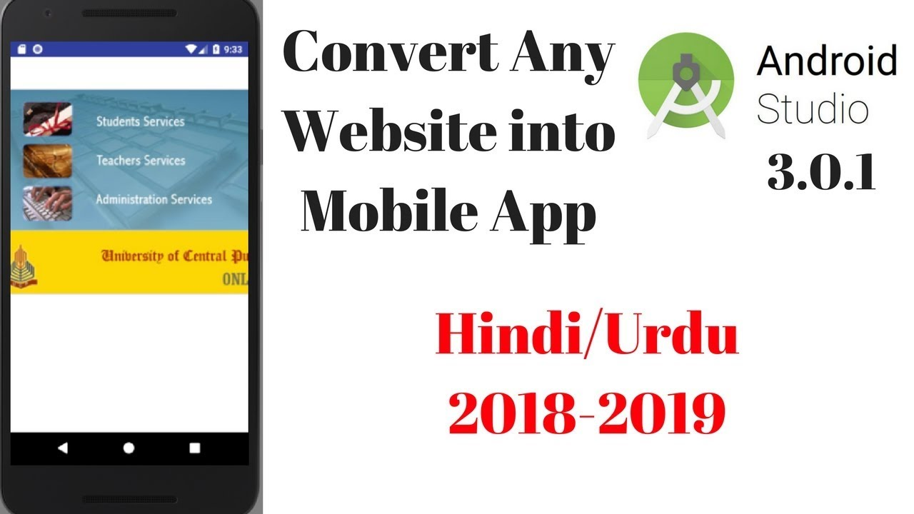 Convert a Website into Android  Application Using Android Studio