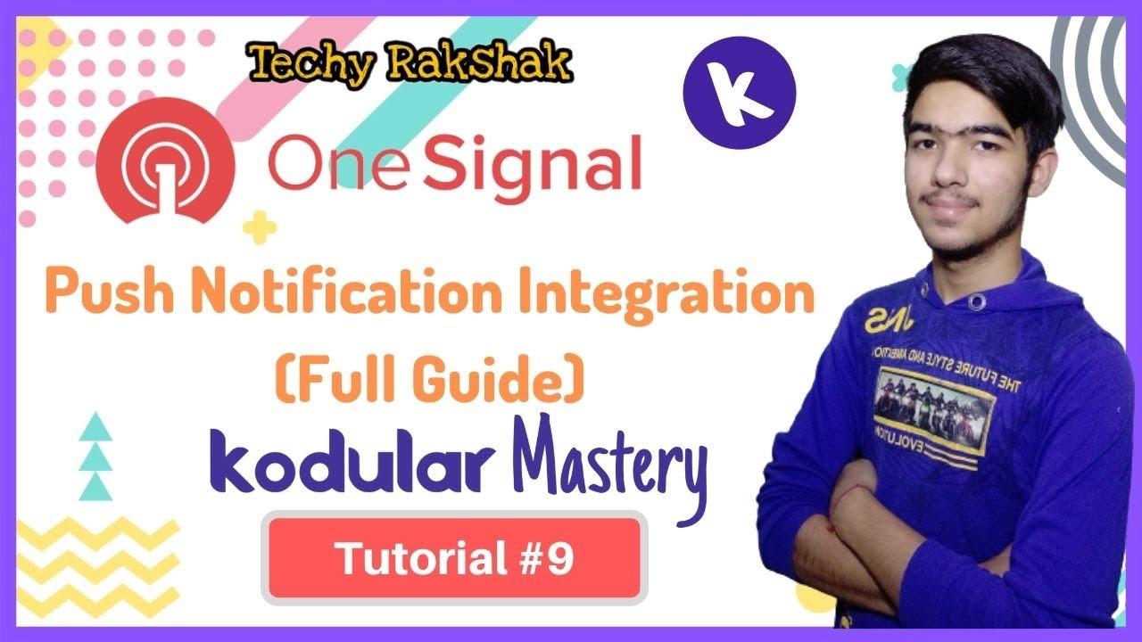 #9 How to Add OneSignal Push Notification in Kodular App ( Full Guide) | Kodular Mastery: Tutorial#9