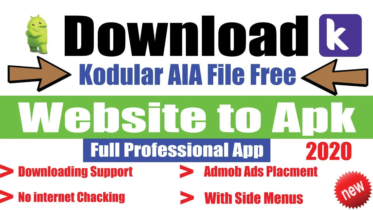 Website to APK Professional AIA File Free download From Kodular