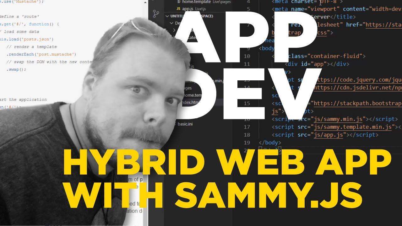 Build A Hybrid Web App Using SammyJS, Cordova, and HTML – Setup SammyJS