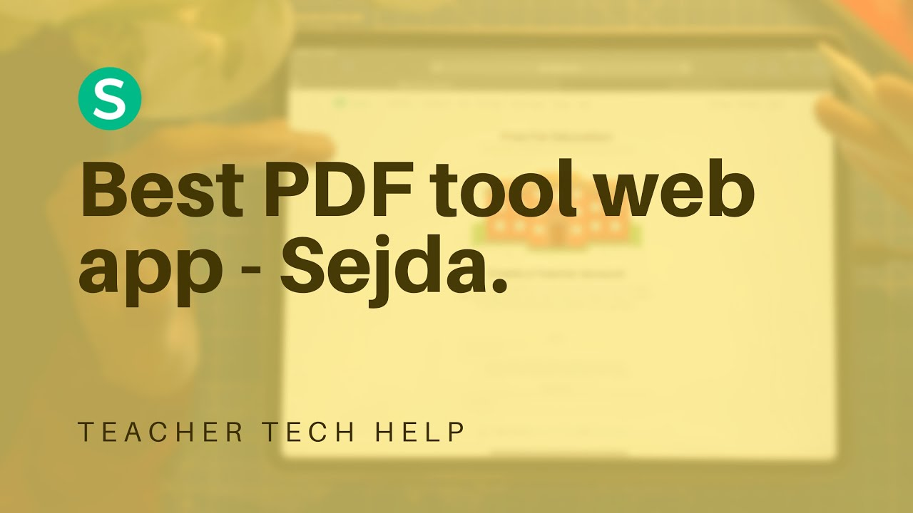 Best web app to compile, convert, edit, unlock or do anything with PDF – Sejda.