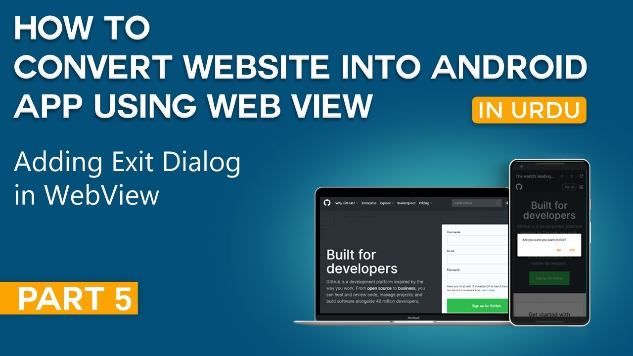 How to Convert Website into Android App Part 5 | Adding Exit Dialog in WebView App