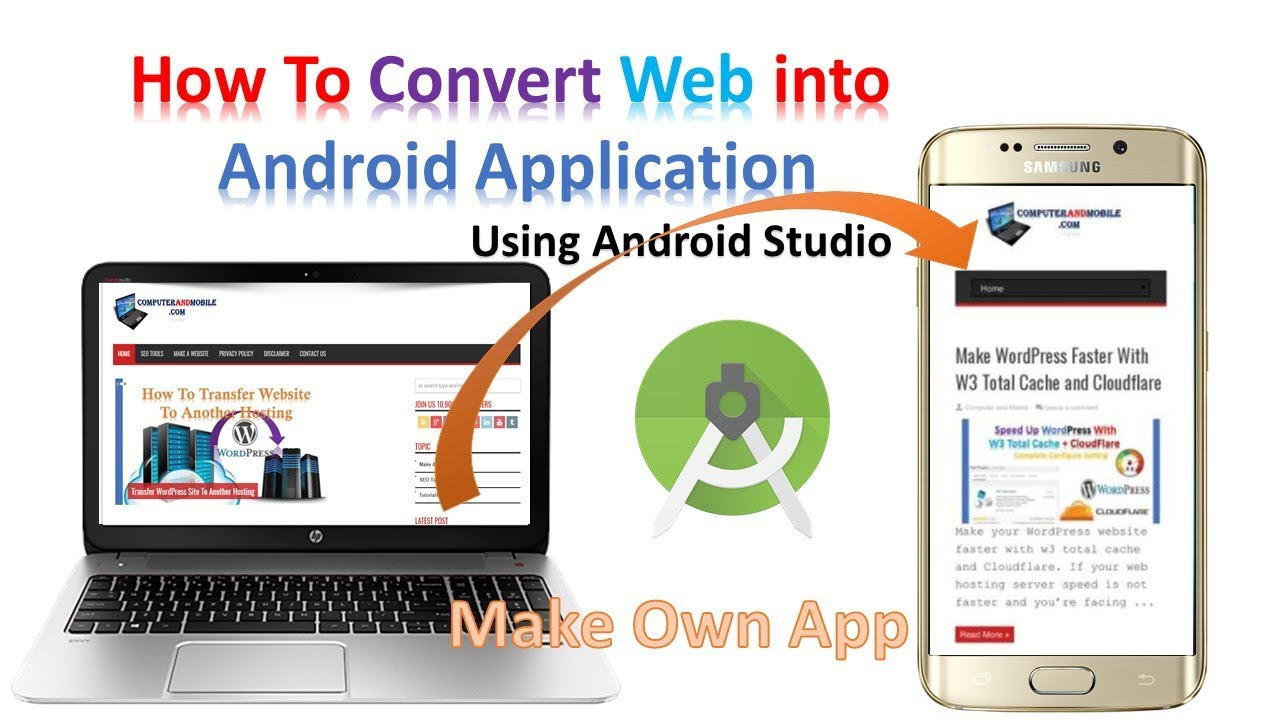 Convert Any Website Into Android App Using Android Studio