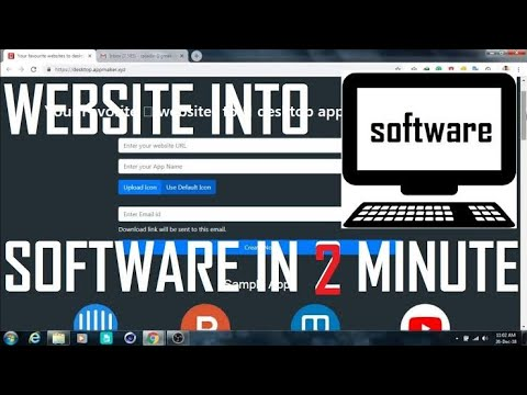Convert Any Website into Pc Software   By Tricky kishan