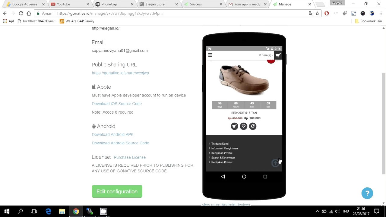 How To Convert Website Into Android App & IOS using Gonative.io 2020 | Hybrid