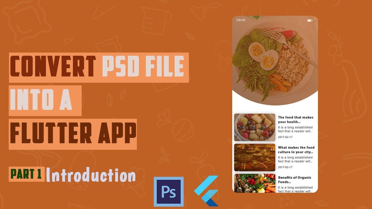 How to Convert PSD File INTO a Flutter App