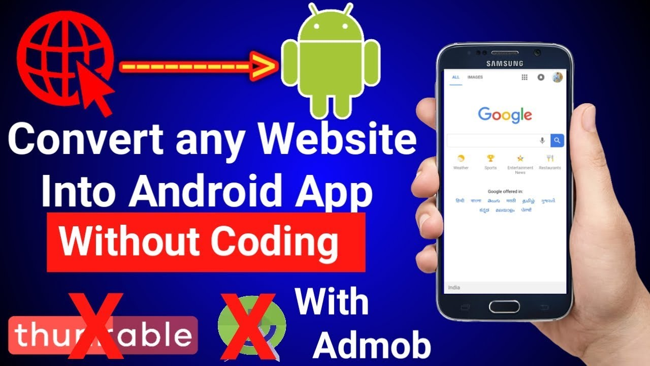 How To Convert any Website into Android App, Create own Application Without Coding in Hindi