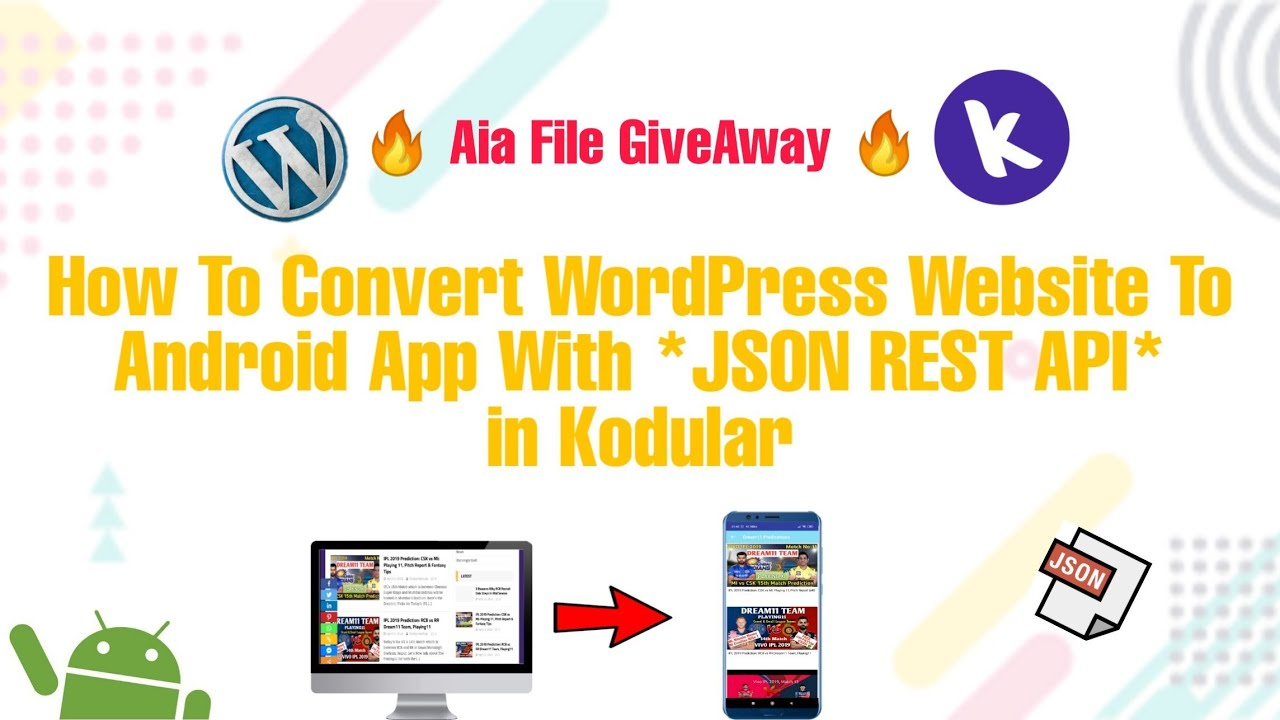 How To Convert WordPress Website To Android App With REST API in Kodular Mit App Inventor