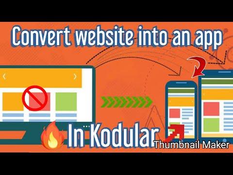 Convert Website To App in Kodular,Thunkable,appybuilder