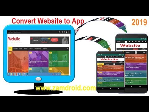 How to convert Website to android app with API 28 and Push Notification