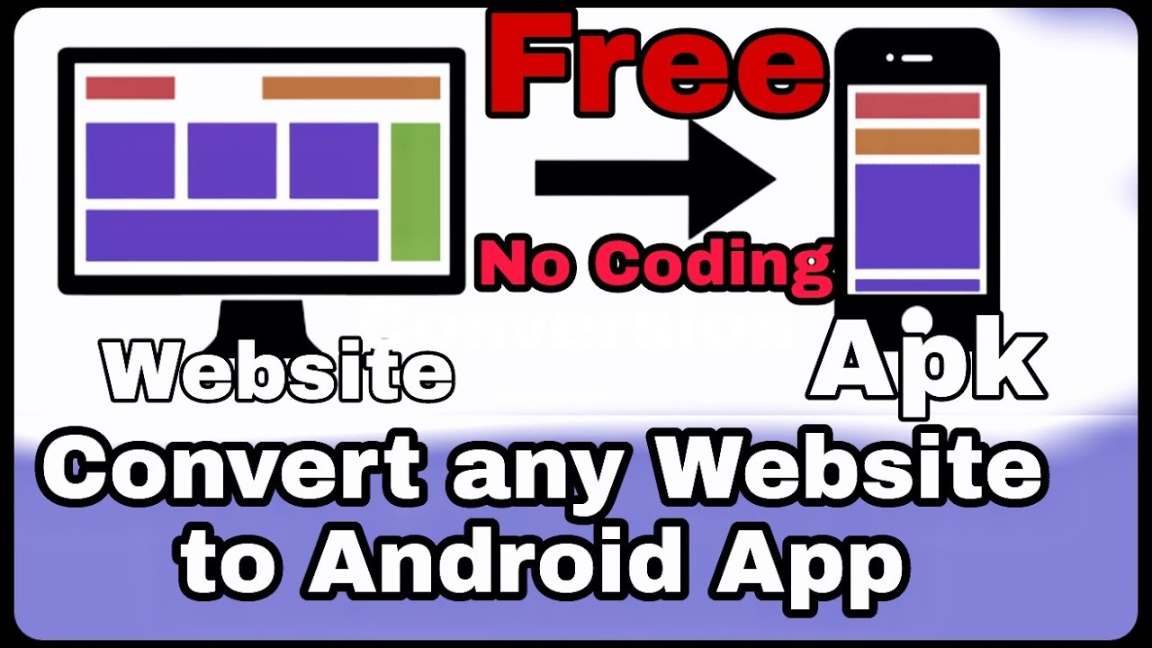 How to Convert any website to Android Apk for free without Android studio  2020