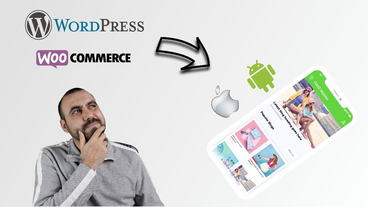 Convert WordPress and Woocommerce sites into mobile Android or iOS app