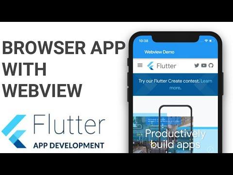 Flutter: WebView | Browser App using Flutter | Website To App