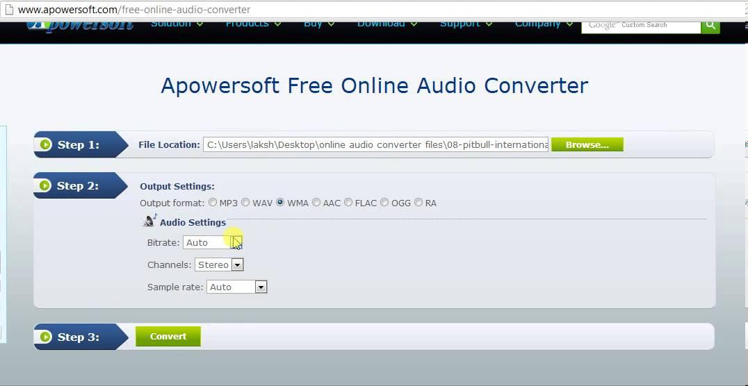 Apowersoft free online audio converter – Video Demo
