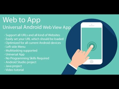 WebToApp – Configure and Run Tutorial | Convert web site to Android app