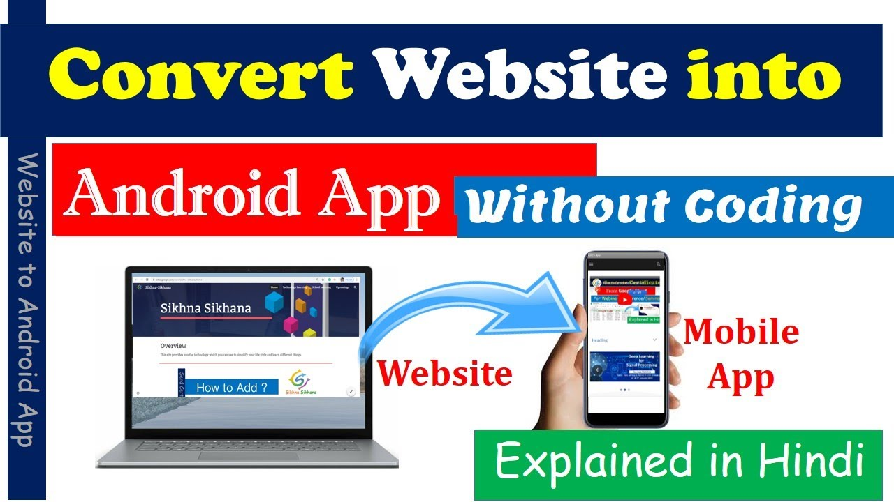 How to Convert Website to Android App Without Coding using MIT App Inverter (Explained in Hindi)