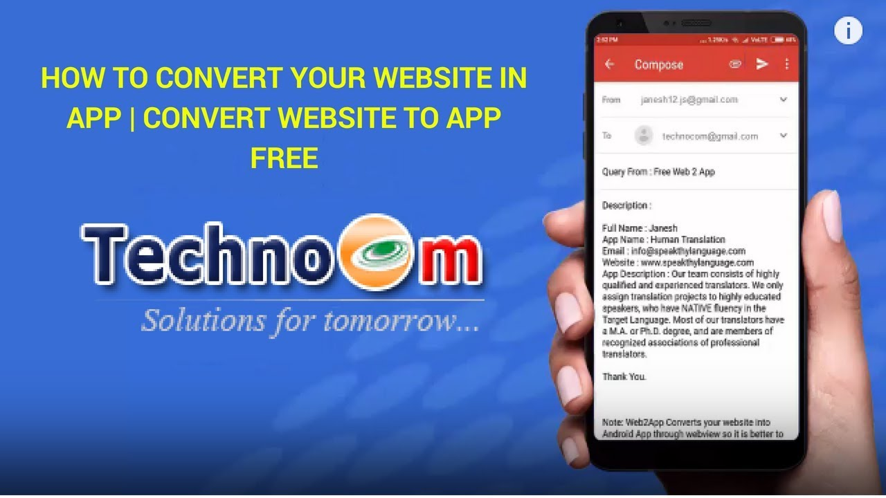 How to Convert Your Website in App | Convert Website to App Free