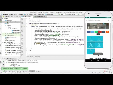 Enable Download in Webview App    Convert Website Into Android App Part 10    Android Studio    2020