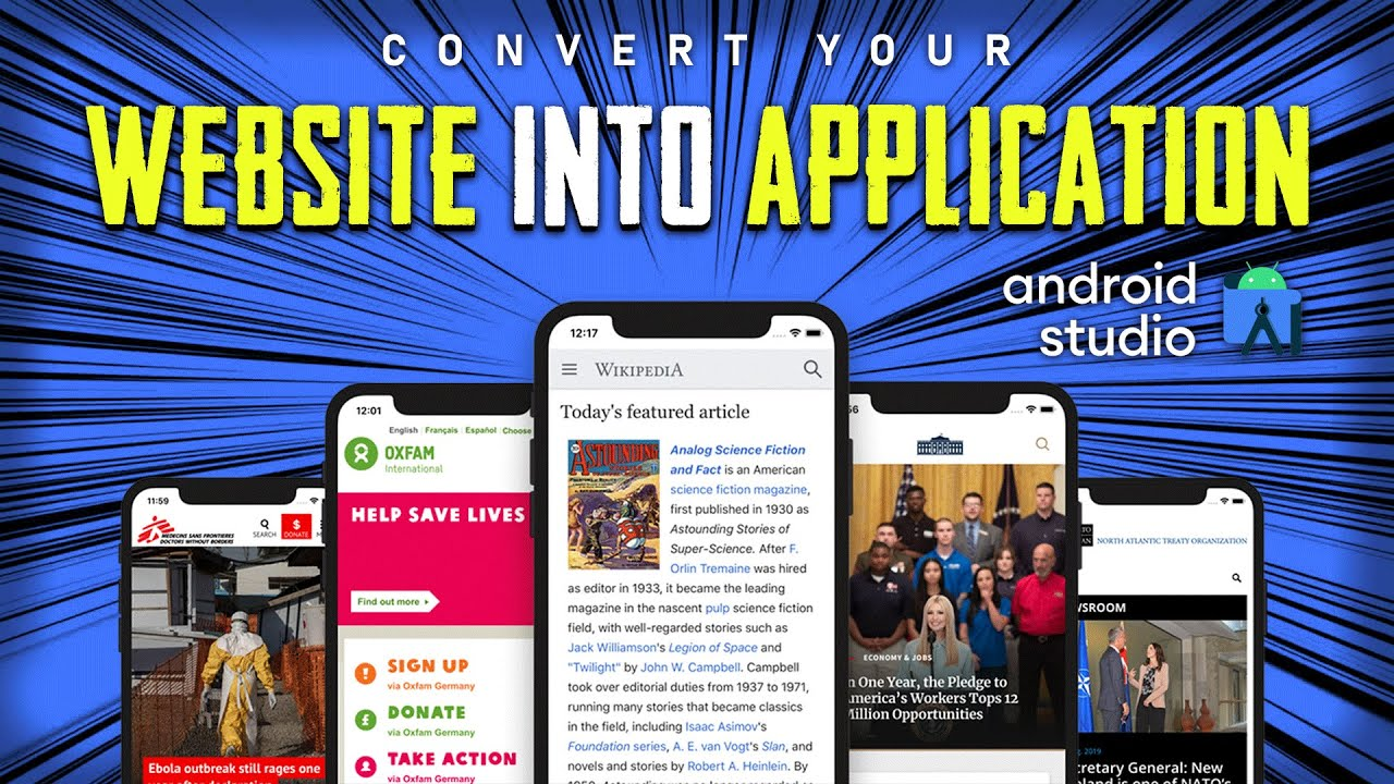 Convert Your Website into an Android Application – Create Your Website's Application