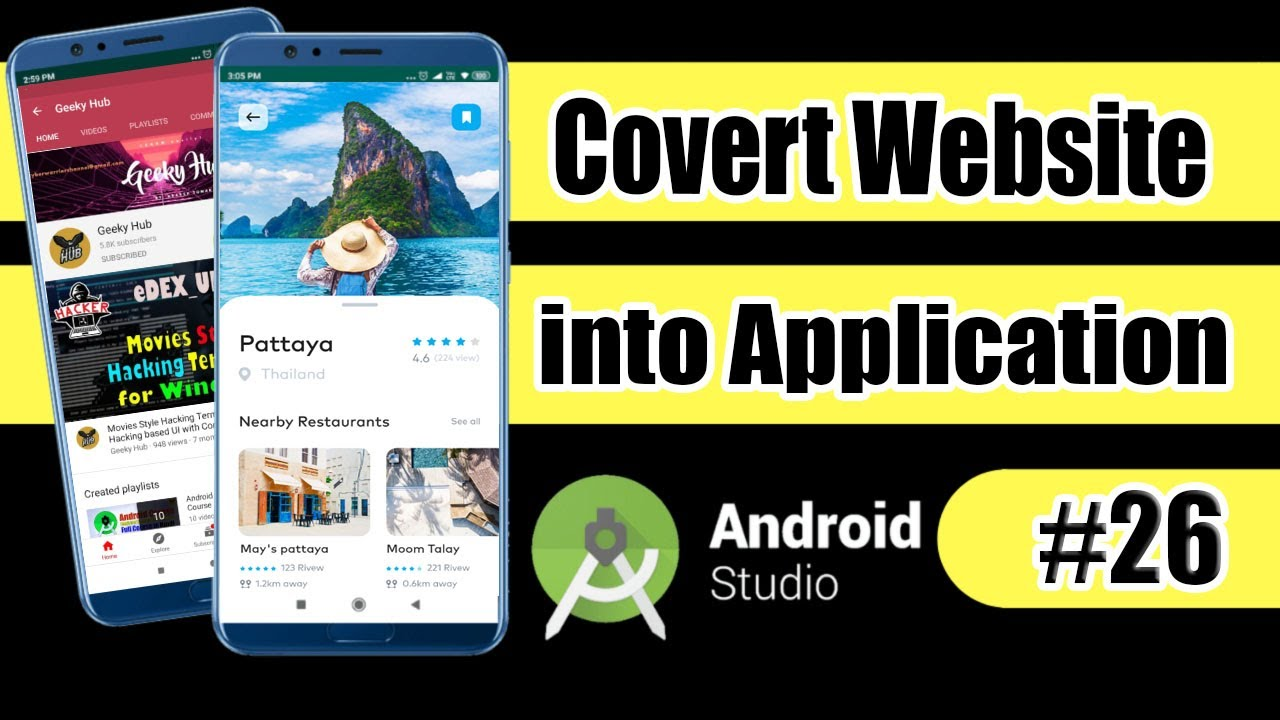 Convert Website to Android App | WebView in Android Project [Hindi] | Android Course #26