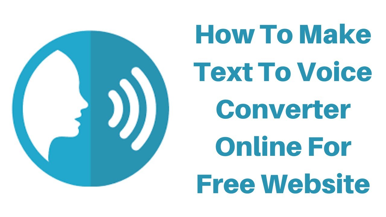 How To Make Text To Voice Converter Online For Free Website