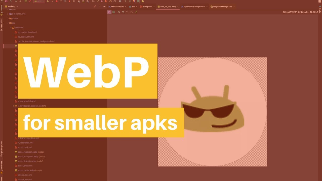 Convert PNG to WebP in Android Studio for Smaller APKs