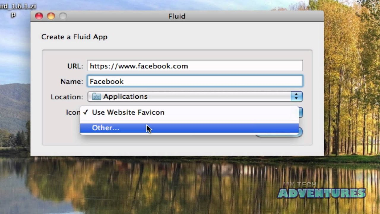 Turn Any Webpage into a Stand Alone Mac Application (MyTechAdventures.com)