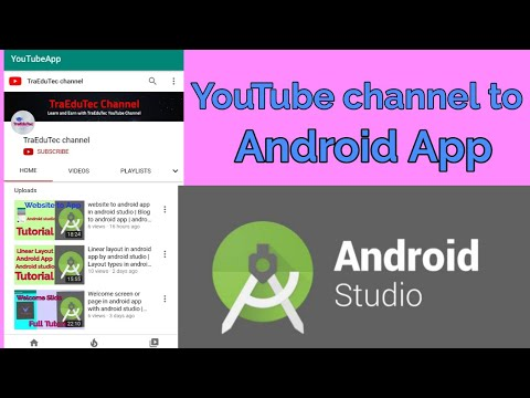 Convert YouTube channel into android app in android studio   Android app development