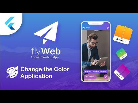 Fly Web – Change your App Colors – Flutter Web to App